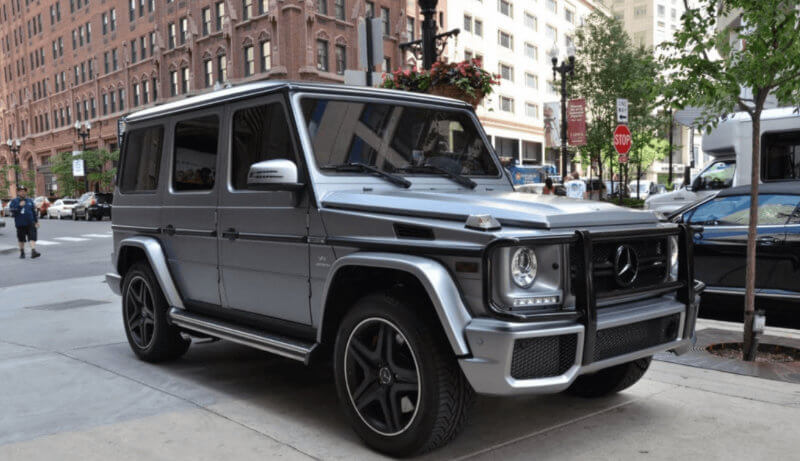 Mercedes G63 AMG modern wedding car hired.